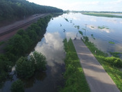 Flooded Road In Plattsmouth