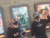 These guys were eager to see Jurassic World