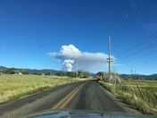 This is a new Fire next to the high road to Taos.