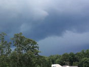 Today's thunderstorm heading towards Smyrna