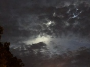 Photos of the sky after the Falcon Heavy rocket launch this morning June 29, 2018
