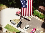 American Flag shot at Standing Springs fire station in Simpsonville