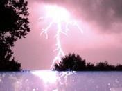 Photo taken during lightning storm near Neola Iowa tonight. June 30, 2018