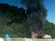 Tractor trailer on fire on I76 East