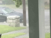 Heavy downpour in Mt. Airy