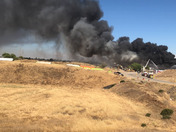 Florin Perkins public disposal site fire on 07/01/2018