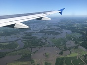 Des Moines flooding from a plane