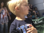 A Solemn Moment During the Star Spangled Banner