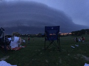 Panoramic of the storm rolling in from Champions Run.