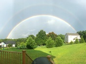 Double Rainbow in Pickens after the morning storms 🌈
