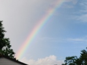 Saw a single rainbow with three eye.