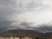 Storm moving in over Albuquerque