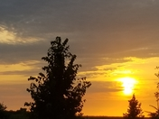 Loved the Iowa sky tonight it was a picture perfect sunset tonight in Winterset,Iowa .