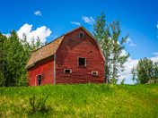 Vintage Red Barn in Alberta
