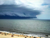 Ocean City Maryland. Today's storm caught alot of attention on the beach