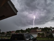 From the storm that passed through Port St. Lucie around 5:30p this evening.