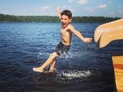 Sliding into summer on Big Island Pond