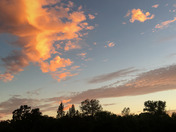 Sunset over Cielo Estate Winery last night.