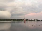 Arcus cloud over Bourne's Pond, East Falmouth, MA. 8:22 pm July 6, 2018