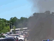 Vehicle on fire