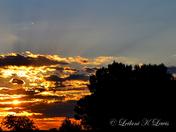 Los Lunas sunset by Leilani Lewis.