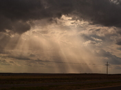 a sunset on the Eastern Plains
