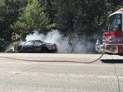 vehicle accident near westbound I-80 Madison vehicle caught fire after collision