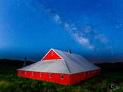 Red, White, and Blue Barn Salute - Photo by Dave Austin