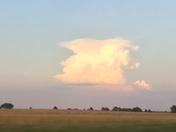 Huge thunderhead possibly near OK/AR border seen from Ingalls