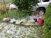 Hail storm, Loudon, nh