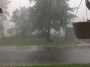 A fast moving severe thunderstorm went through Laurens this afternoon.