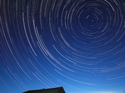 Star trails on the prairies