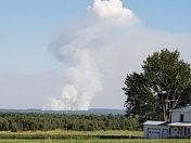 Photos of the forest fire up towards Altona, NY