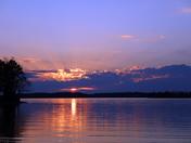 Sunset - Lake Hartwell  Sadler Creek Campground
