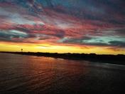 Sunset Monday evening while visiting Oak Island.
