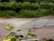 Flooding in Villanueva (La Fruaga) during rain storm