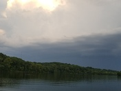 Storm rolling in while fishing at Truman lake