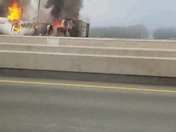 Truck fire on dodge expressway
