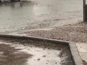 Morris &Menaul Flash Flood! Rain, Hail, Lightning & Thunder!!!