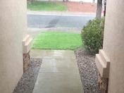 Finally raining in Rio Rancho