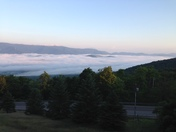 "Mad River Valley ""Lake"" taken from the top of Roxbury Gap Sunday July 15 at 6 a.m."