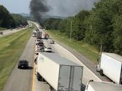 Tractor Trailer Fire I77 North