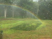 We had a complete rainbow in our yard after the down pour that happened here in Merrimack