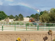 Beautiful, vibrant rainbow East side of Sandias, a bit different than usual.