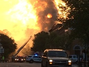 Fire in Downtown Woodstock at 6:00 am.