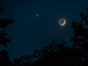 Moon and Venus last night from Lawrenceburg IN.