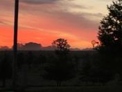 Stunning July sunrise.