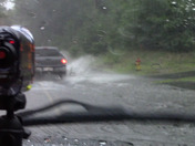 This footage is from driving on route 3A in Hooksett in to Manchester during todays thunderstorm.