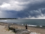 Storm front moving over Hampton and North Hampton today