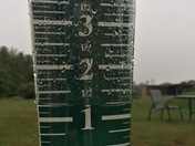Canterbury rainfall,  a little over 1 inch!